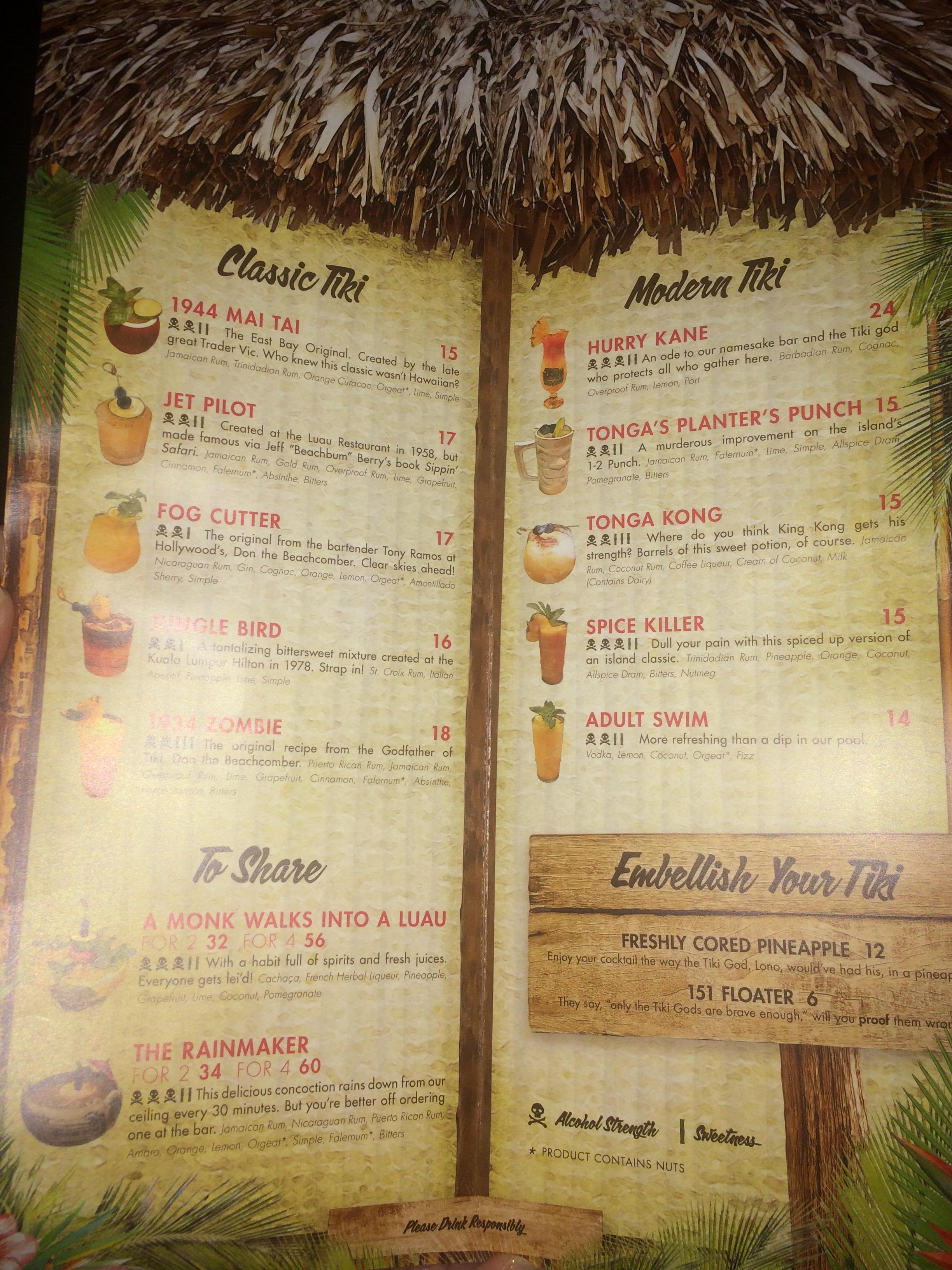 Tiki Bar Review Tonga Room Badgersans Tiki Hut